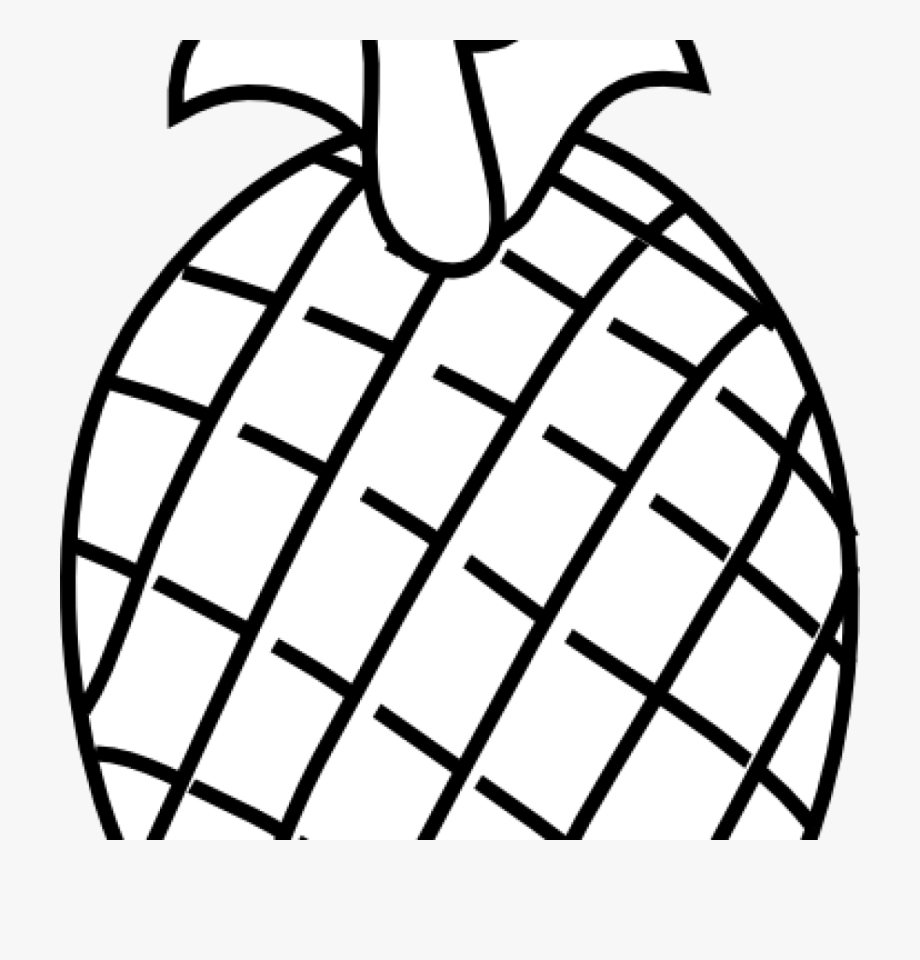 Black And White Pineapple Png.