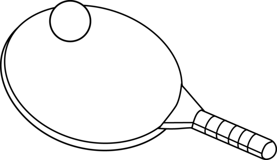 Ping Pong Clipart Black And White.