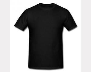 Plain Blank T Shirts Black.