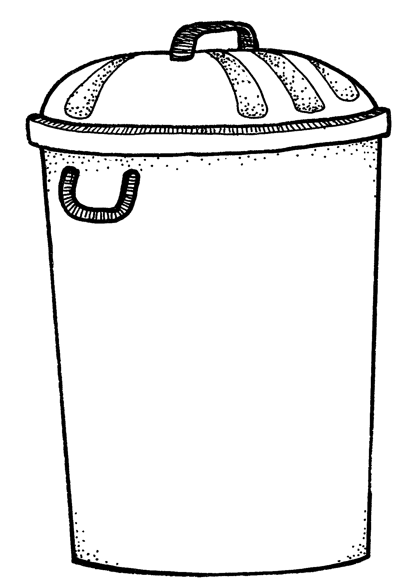 Free Trash Can Clipart Black And White, Download Free Clip.
