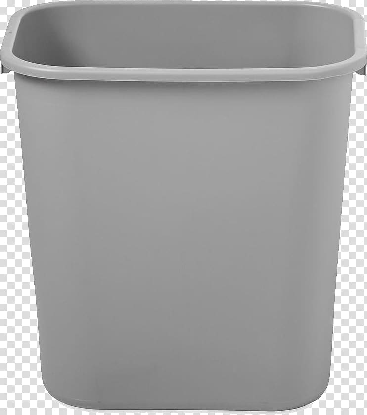 Gray plastic bucket, Waste container Plastic Icon, Trash can.
