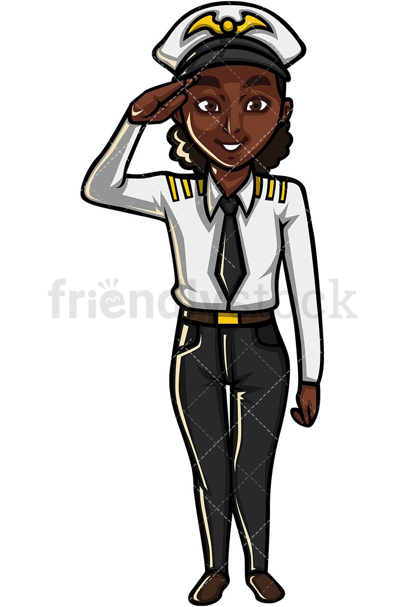 Black Female Pilot.
