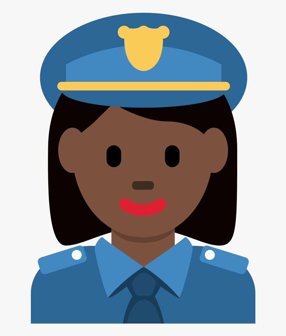 Black Police Officer Emoji.