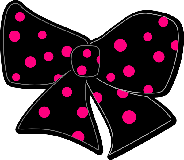 Bow With Polka Dots Clip Art at Clker.com.