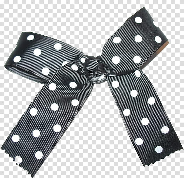Bows, black and white polka.