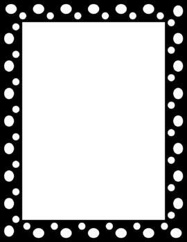 Black and green polka scalloped line clipart.