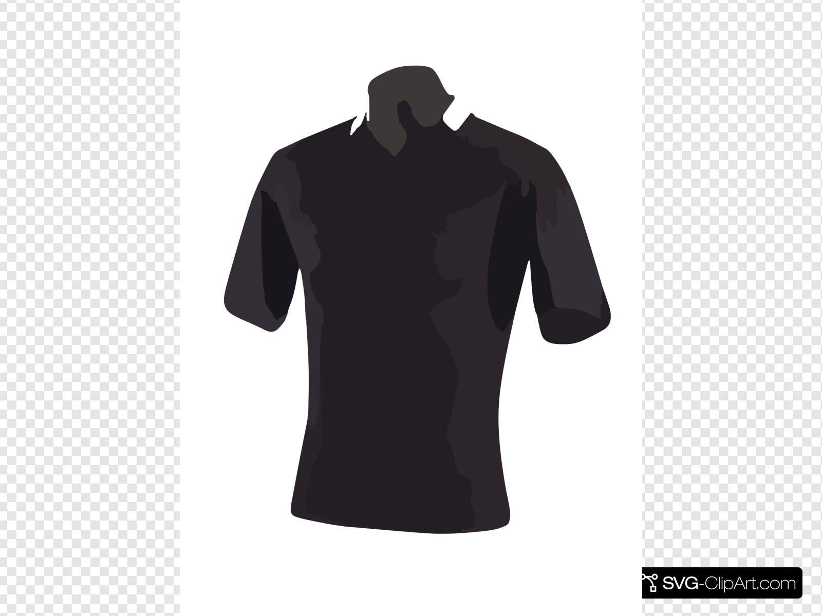Black Polo Shirt Clip art, Icon and SVG.