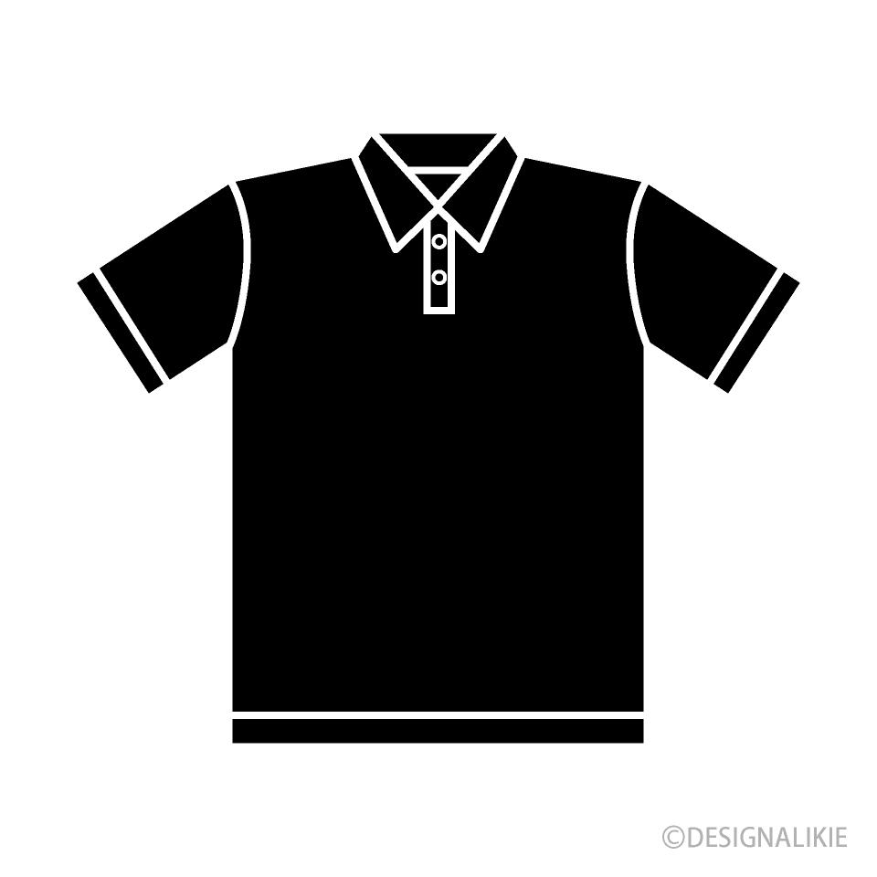 Free Polo Shirt Silhouette Clipart Image|Illustoon.