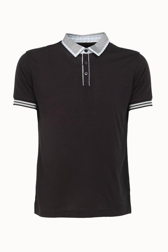 Plain Black Polo Shirt Back Images Pictures.