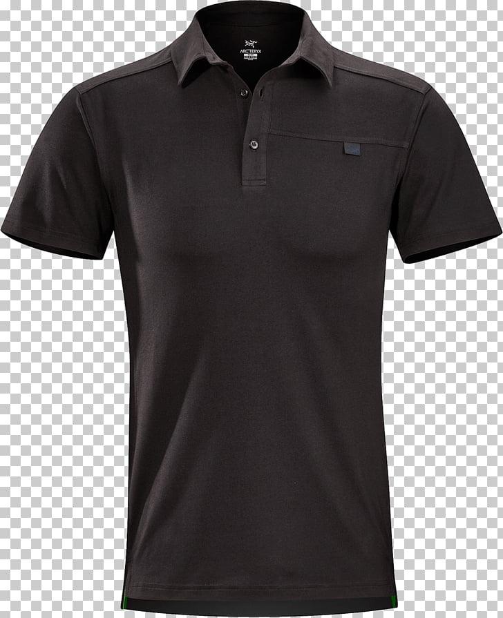 Polo Black Slim, black polo shirt PNG clipart.