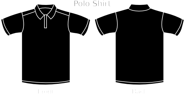 Black Polo Tee Clip Art at Clker.com.