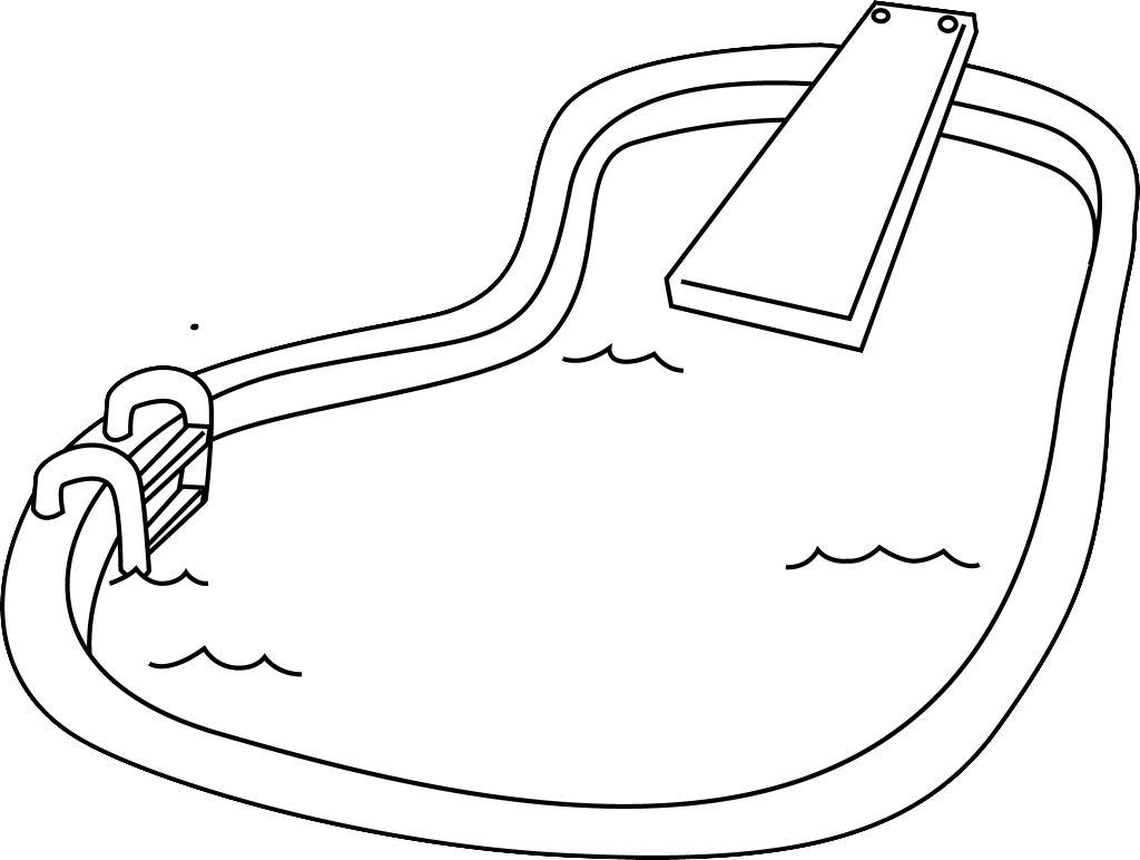 Swimming Pool Coloring Book coloring page, coloring image, clipart.