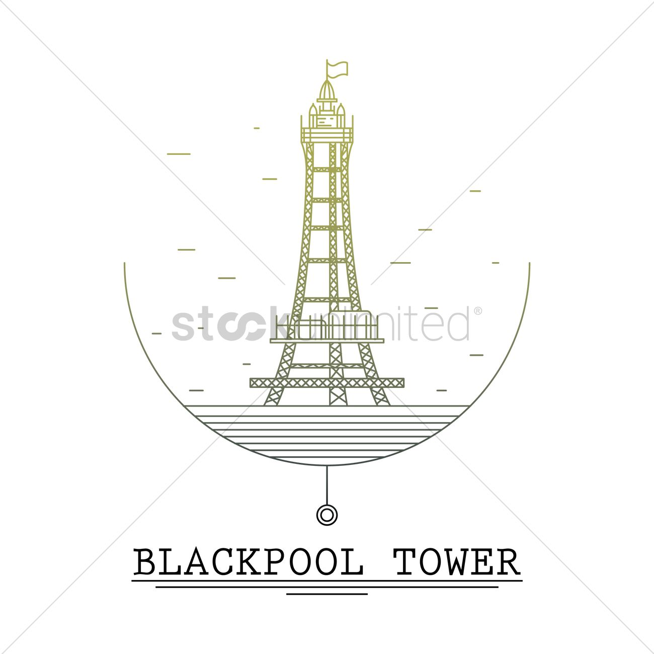 Blackpool tower Vector Image.