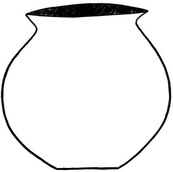 Clipart pot black and white.