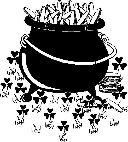 Black pot clipart.