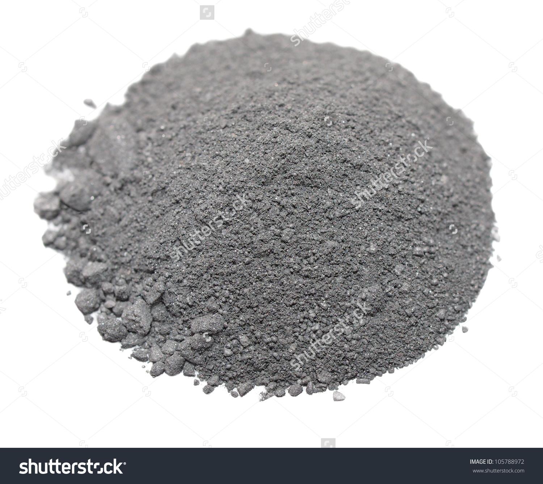 Pile Gunpowder Black Powder Isolated On Stock Photo 105788972.