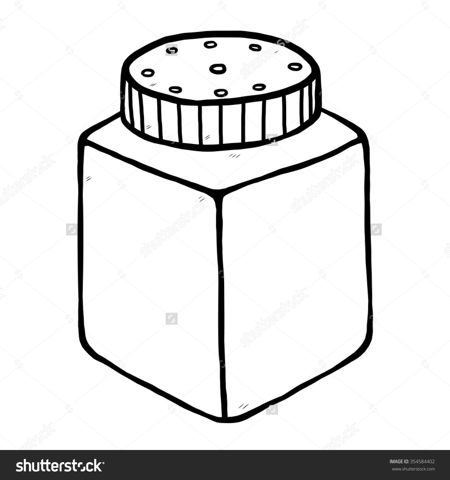 Powder Bottle Cartoon Vector Illustration Black Stock Vector.