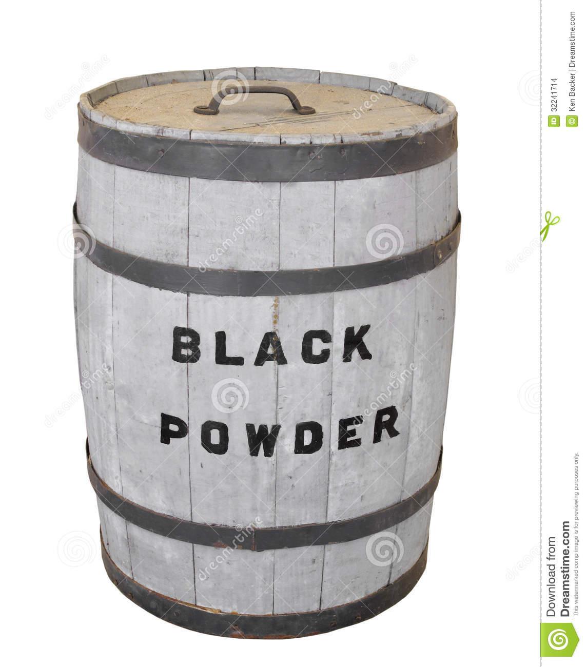Black Powder Keg Isolated. Stock Images.