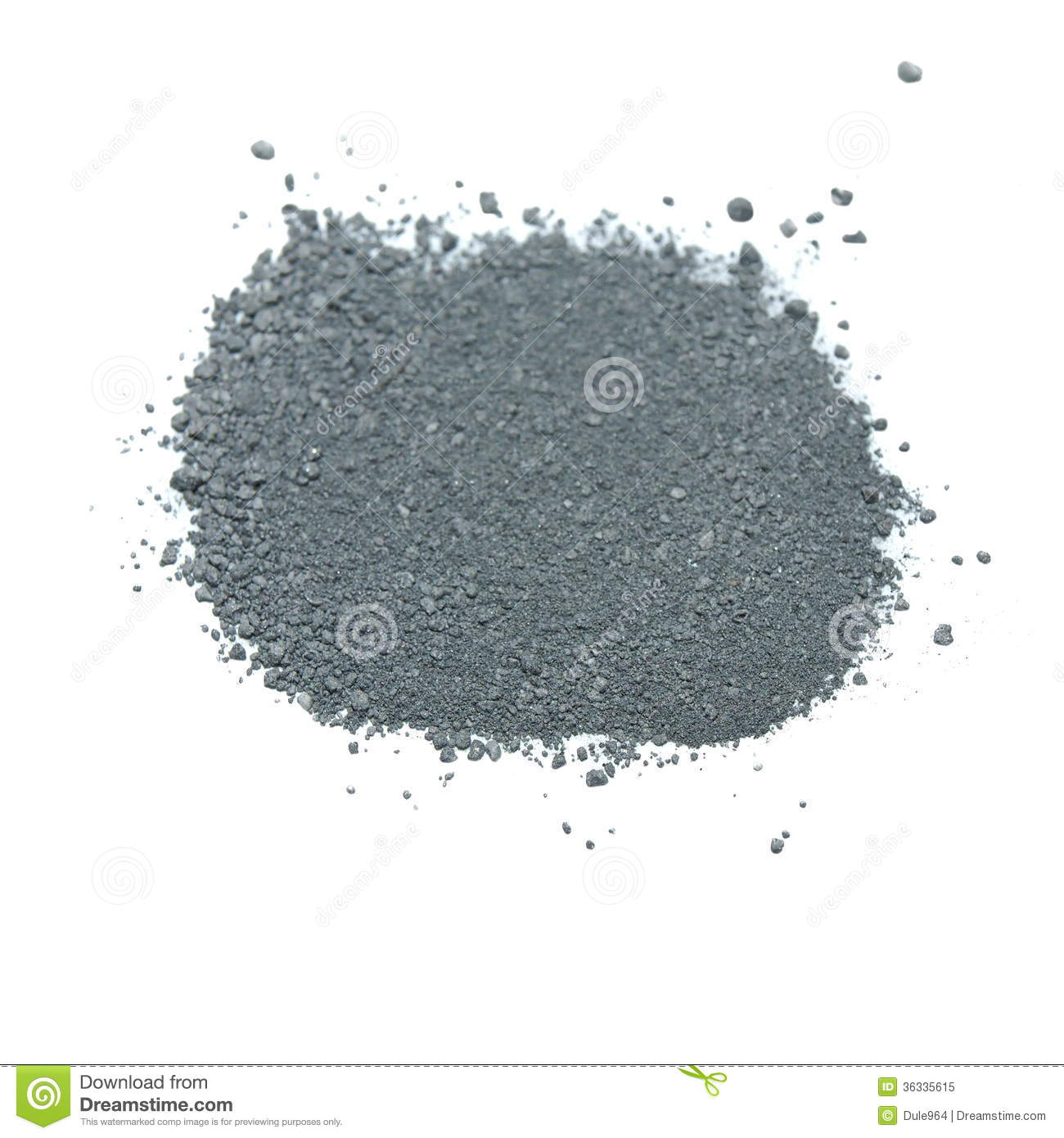 Pile Gunpowder (black Powder) Royalty Free Stock Image.