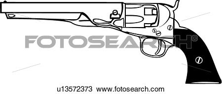 Clipart of , black powder, gun, pistol, weapon, u13572373.