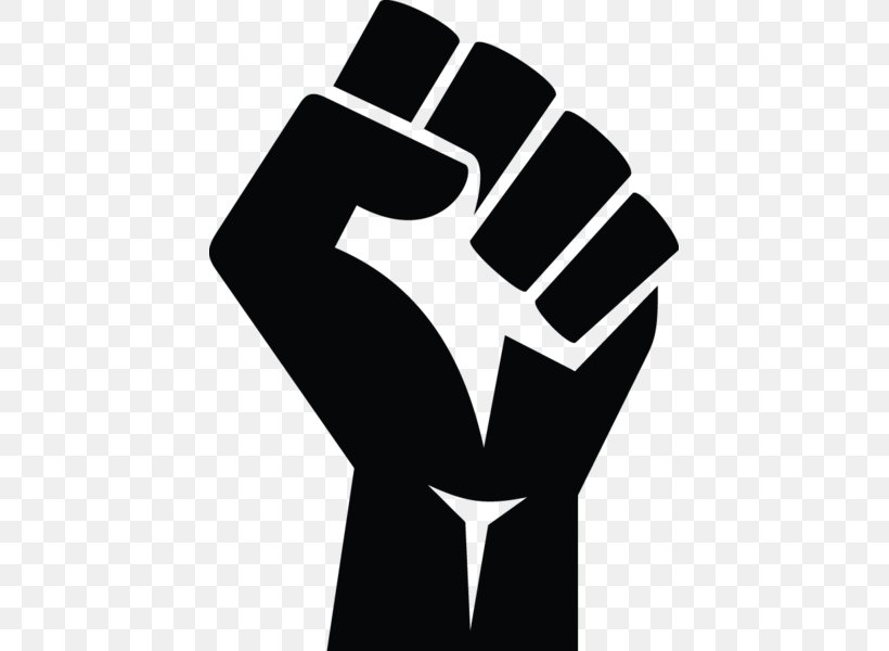 Raised Fist Black Power Sticker Clip Art, PNG, 433x600px.