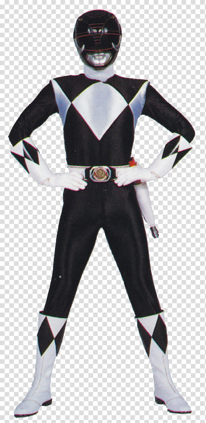 Series Mighty Morphin Black Ranger transparent background.