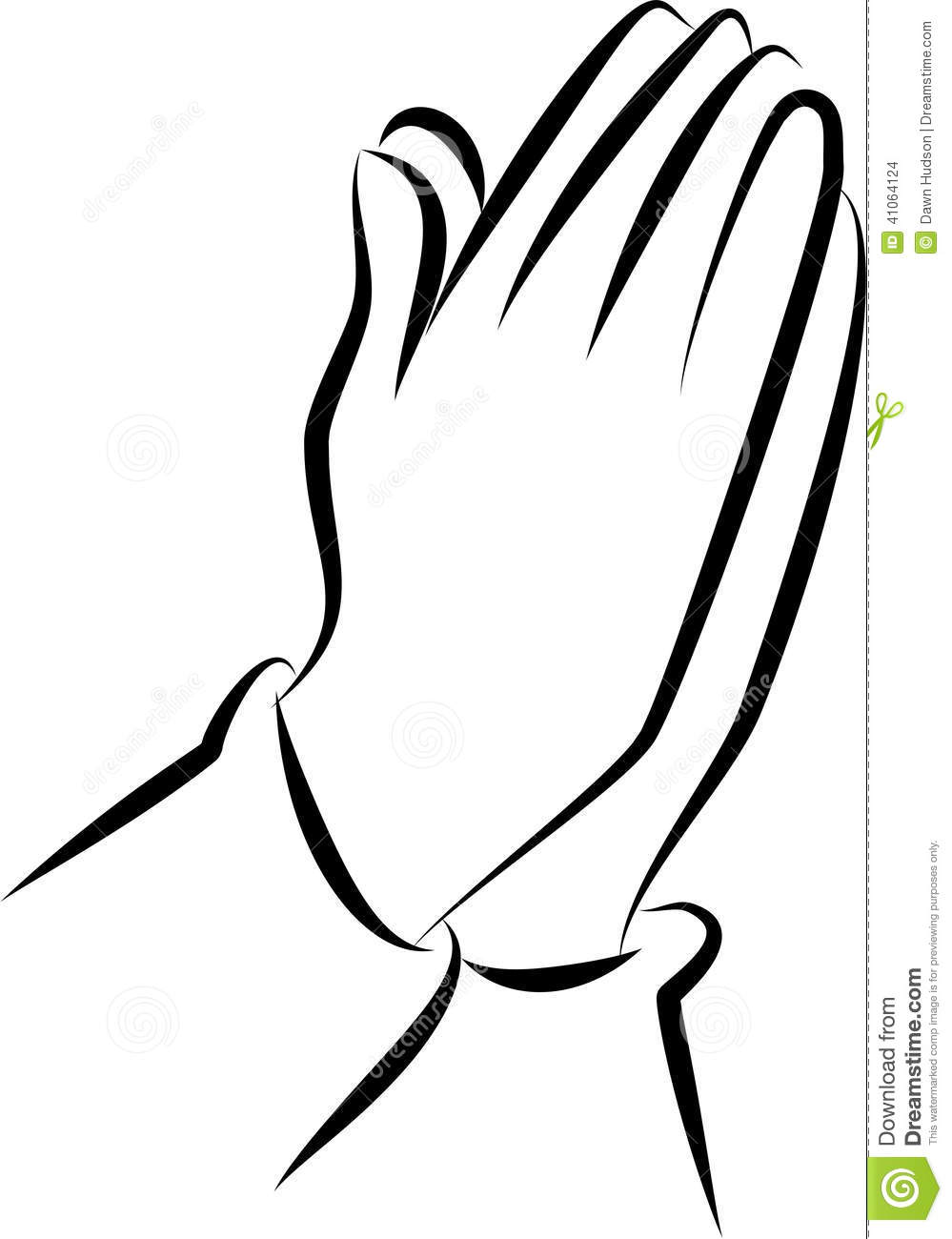 Cross And Praying Hands Clipart Black And White.