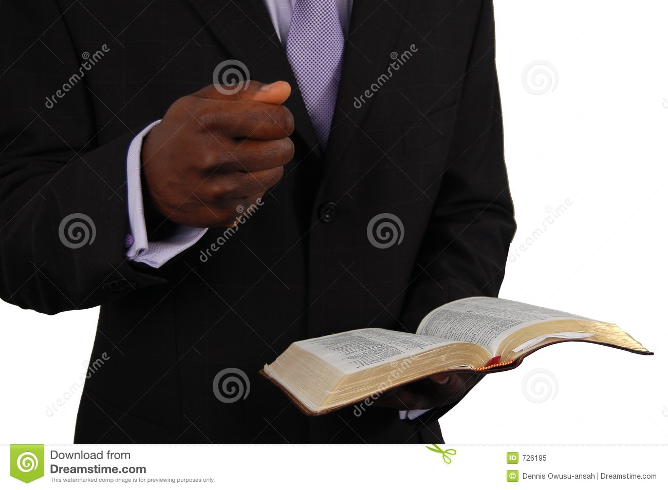 Pastor Preaching stock image. Image of church, hold, bible.