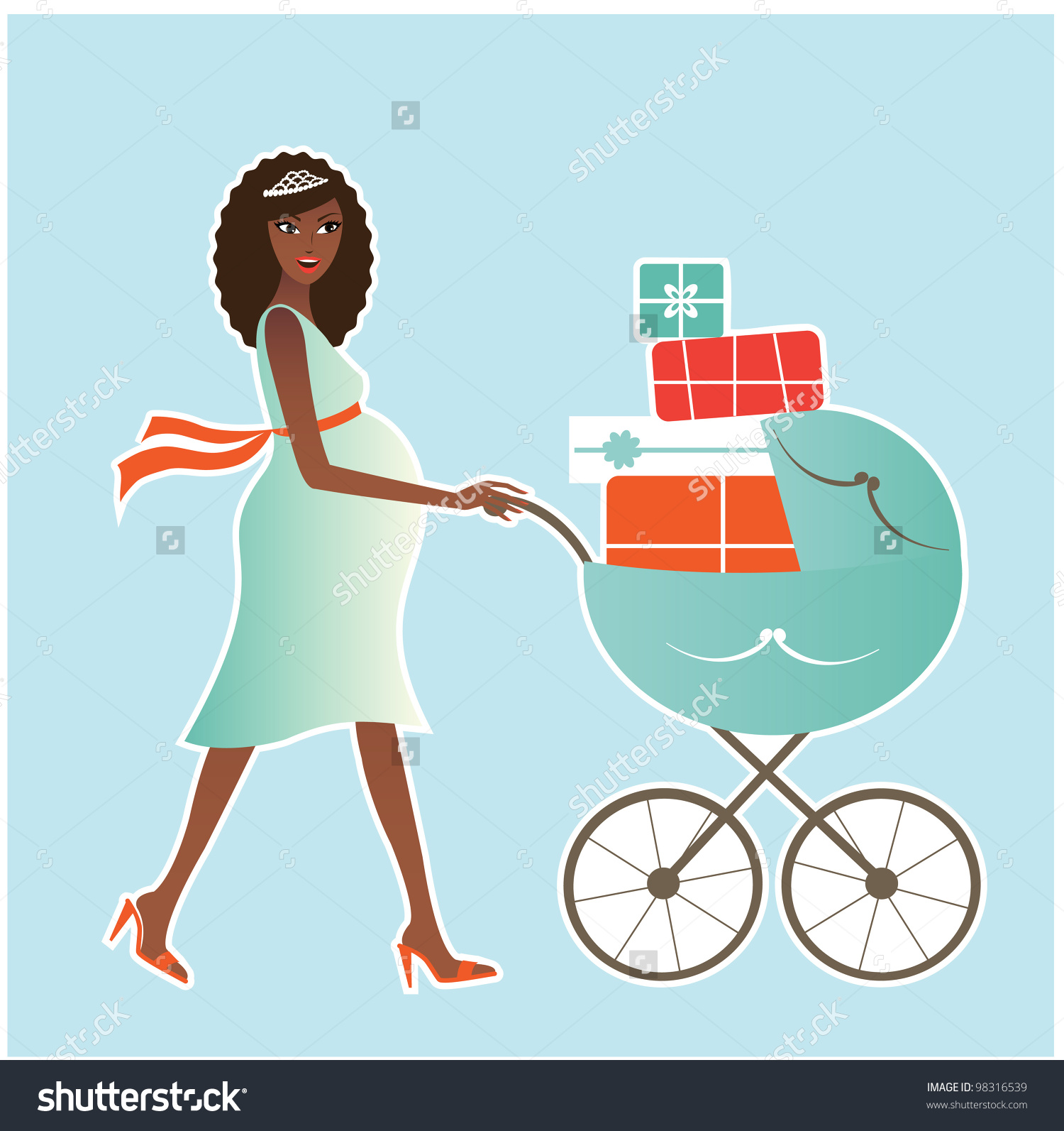 Watch more like African American Pregnant Woman Clip Art.