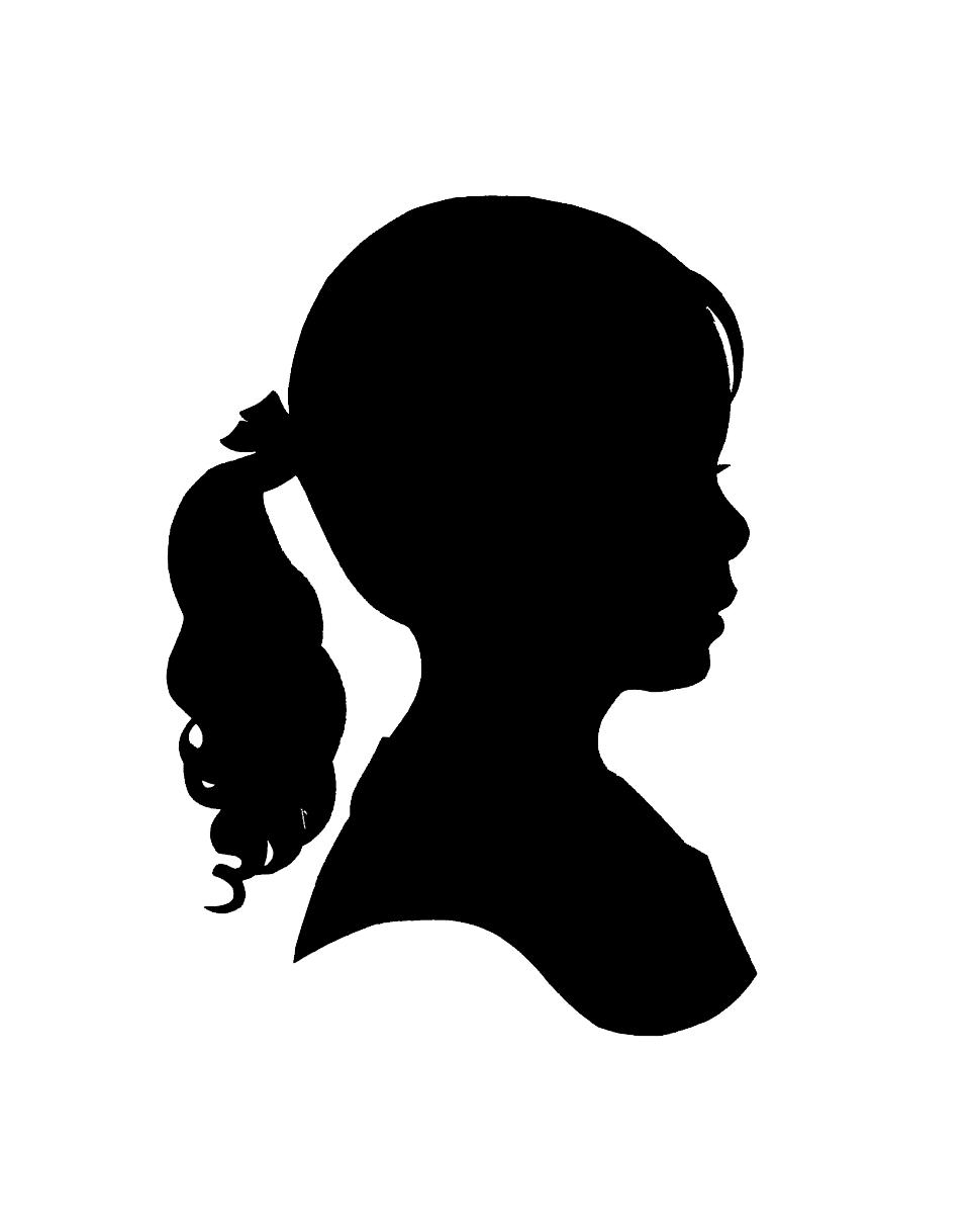 Little Girl Face Silhouette.