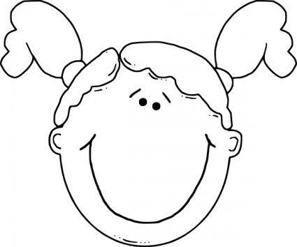 Girl Face clip art.