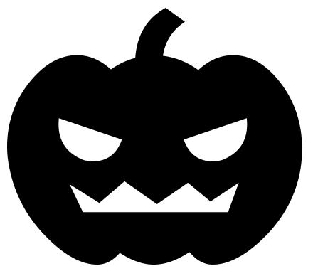Pumpkin Clipart Black.