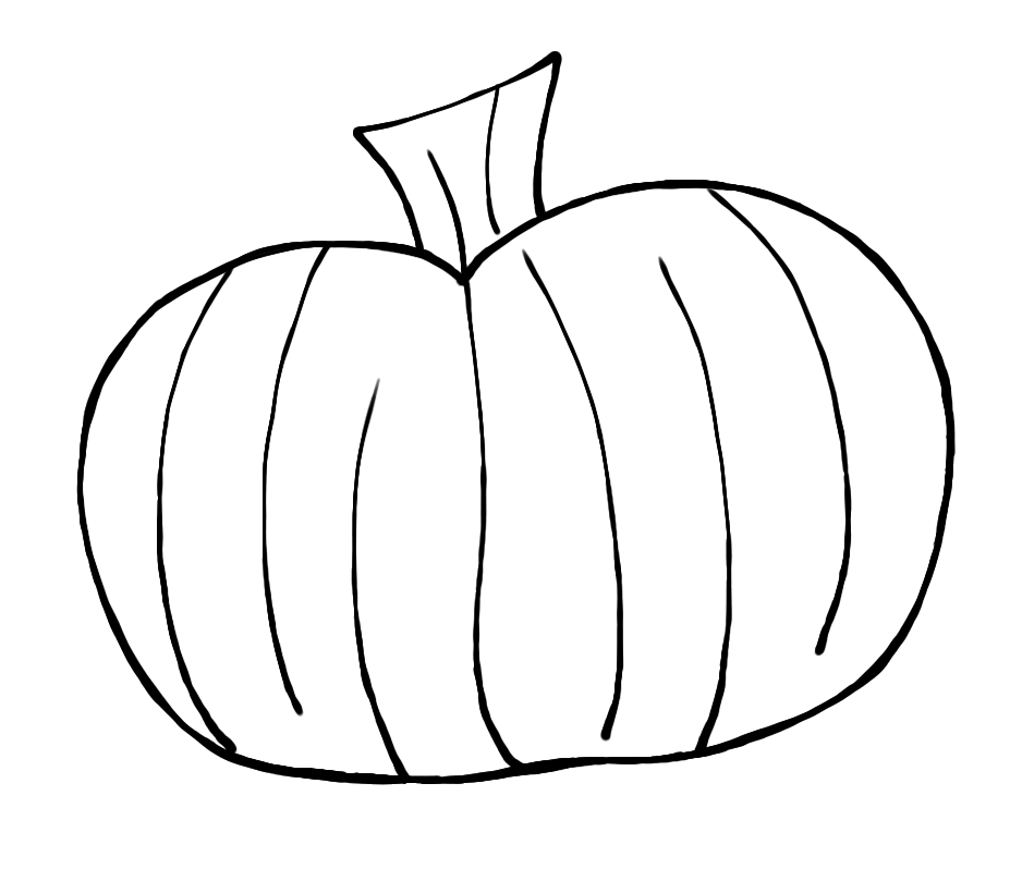 Pumpkin Outline Clipart Black And White.