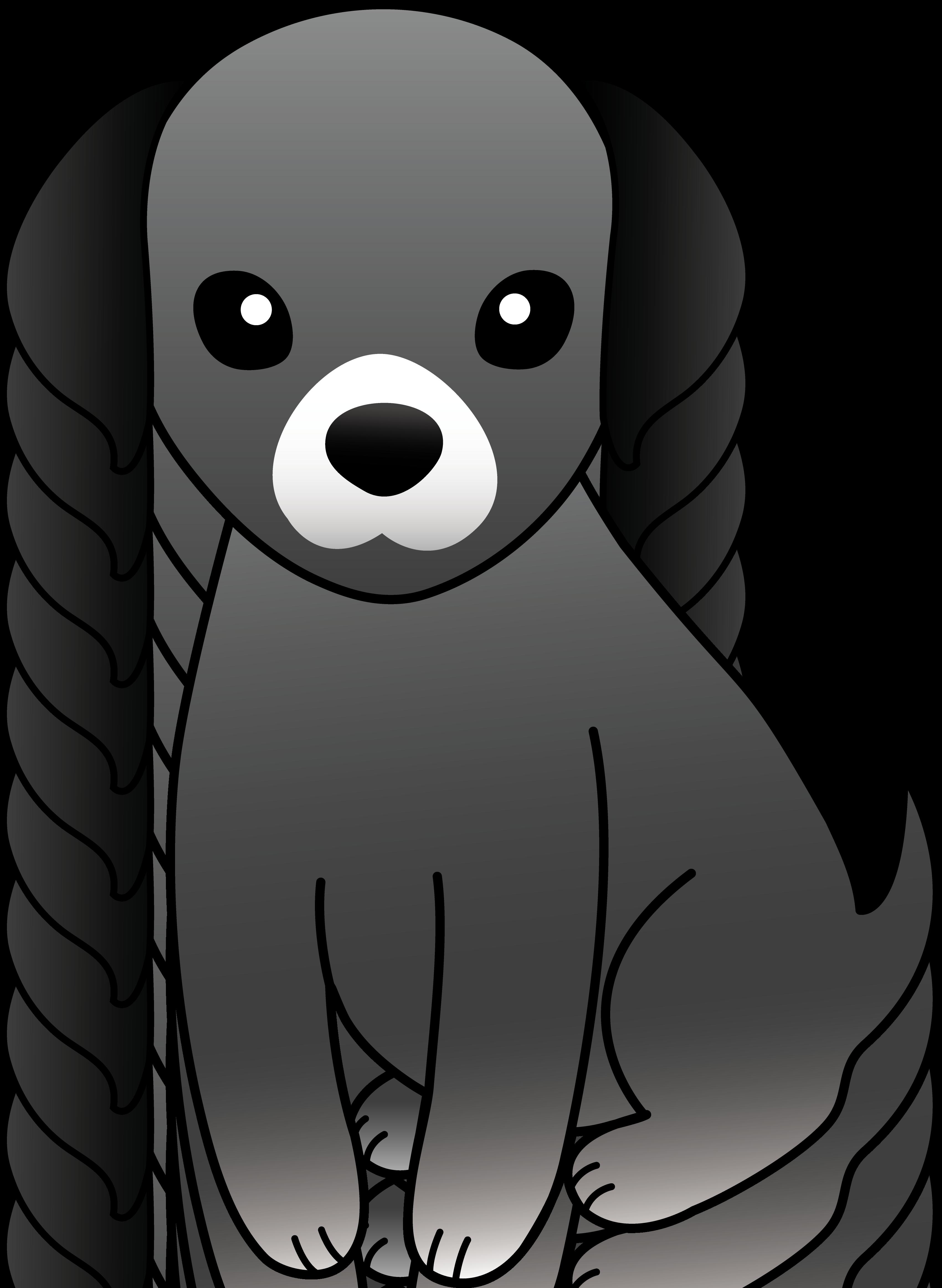 Small Black Dog Clipart.