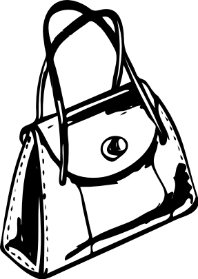 Images Clip Art Black And White Bag.