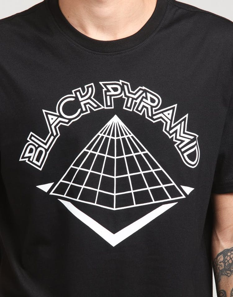 Black Pyramid Creation Logo Pyramid Tee Black.