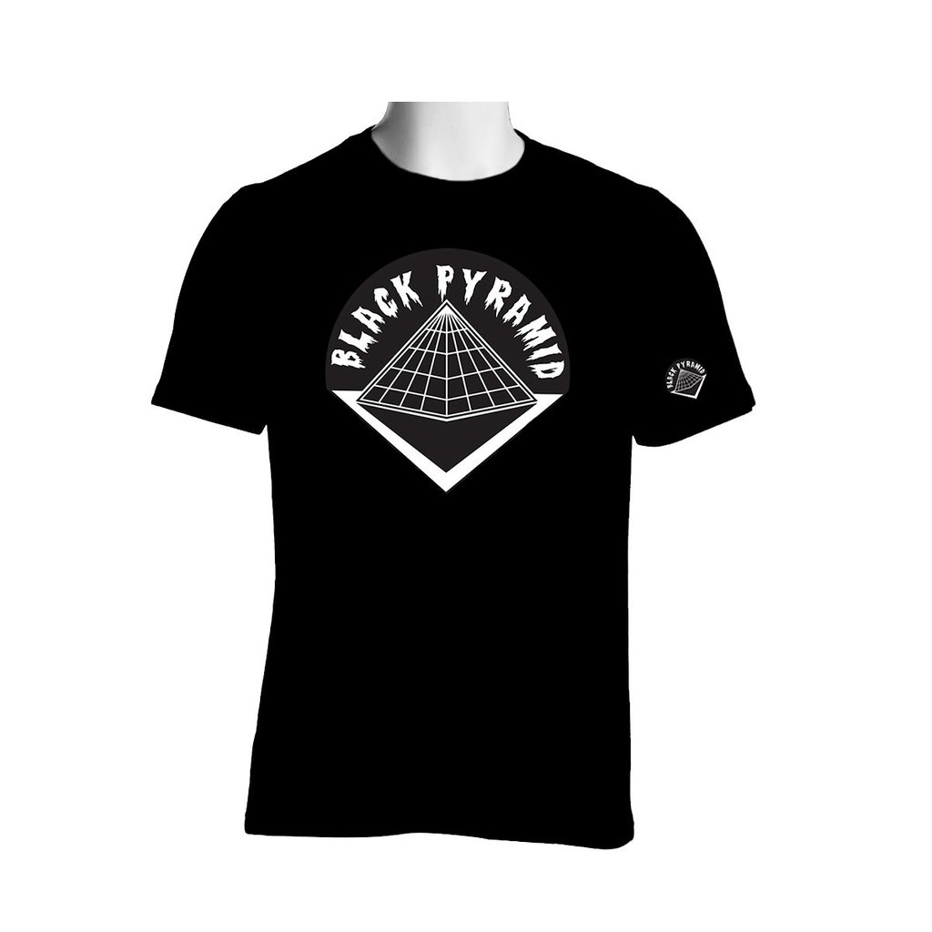 Black Pyramid Logo Tee (Black).