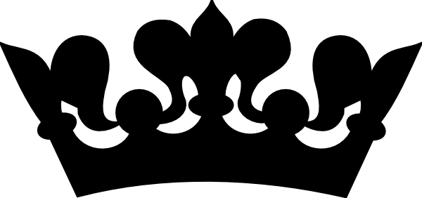 Queen Crown Clipart Black And White.