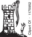 Rapunzel Black And White Clipart.
