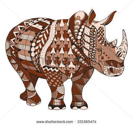 Black Rhino Stock Photos, Royalty.