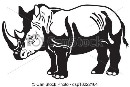 Black rhino Clip Art Vector Graphics. 617 Black rhino EPS clipart.