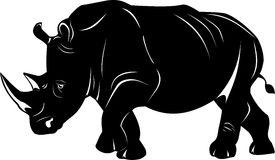 Black Rhino Stock Illustrations.