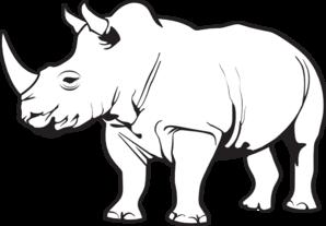 Black rhino clipart.