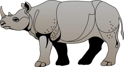 Black Rhino Head Clip Art Download.