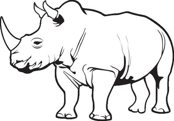Rhinoceros Clip Art at Clker.com.