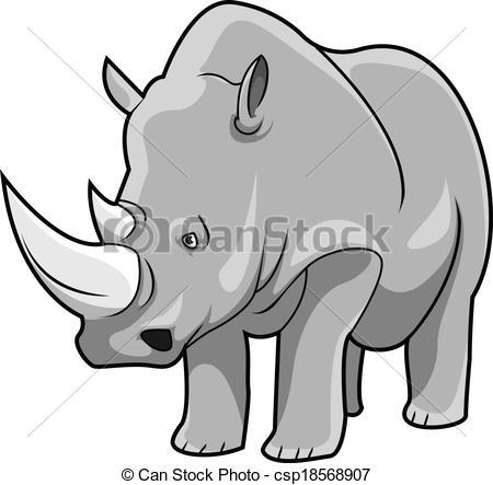 White rhinoceros Vector Clipart Royalty Free. 930 White rhinoceros.