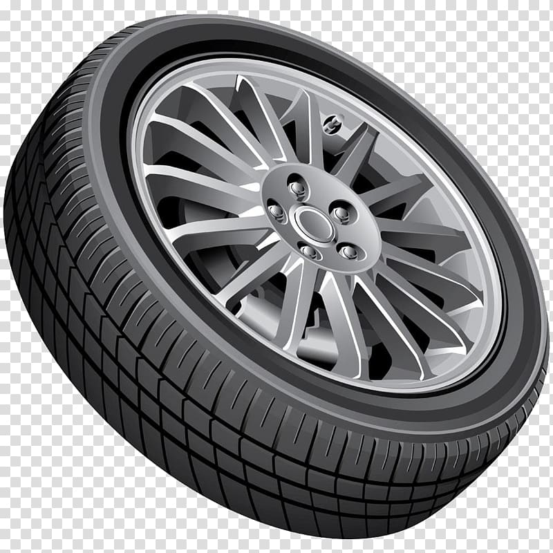 Car Wheel , Black car tires transparent background PNG.
