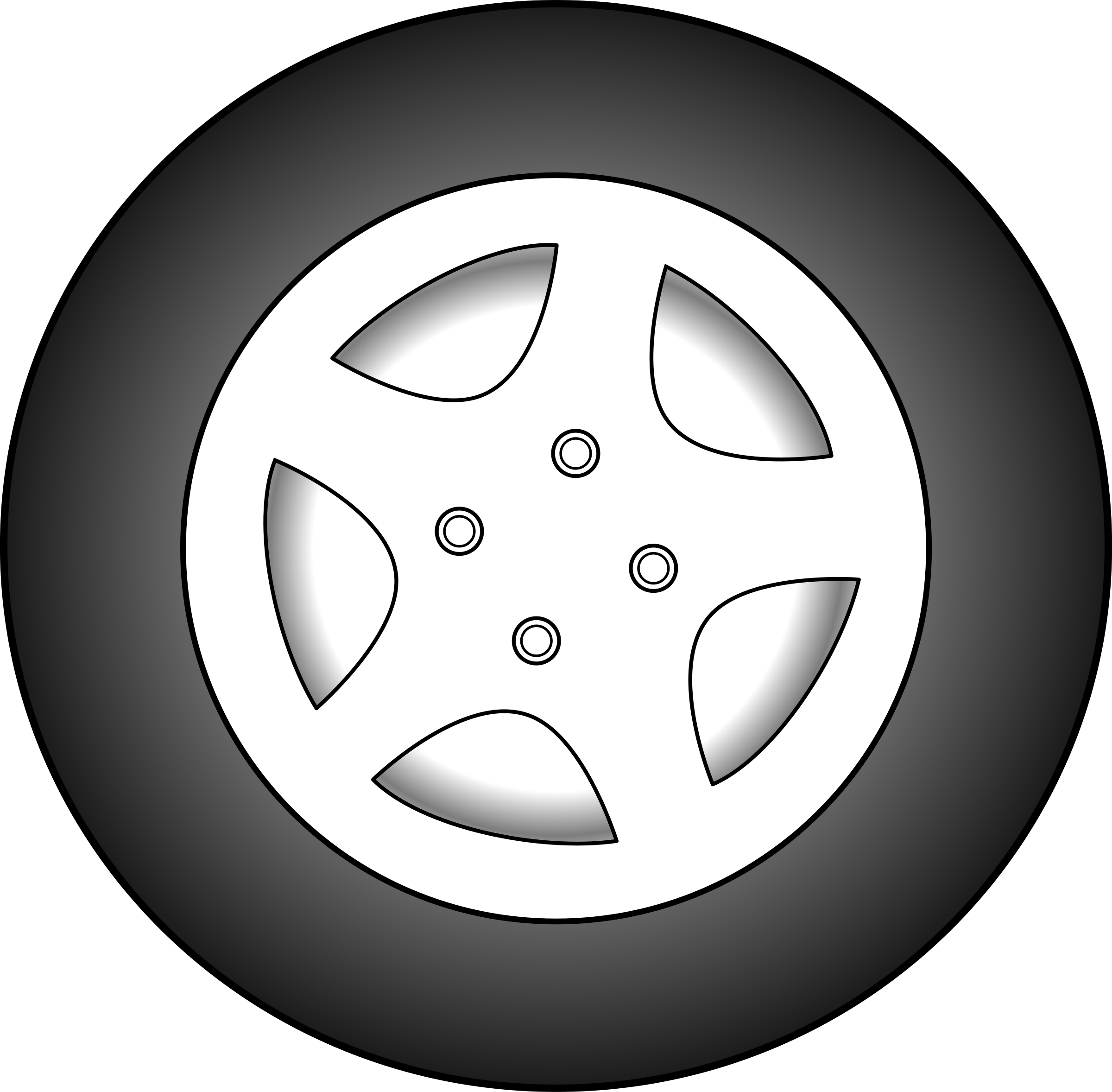 Svg Black And White Stock Wheels On The Bus Clipart.