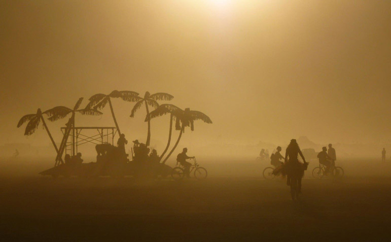 burning man: a brief history of the desert festival and black rock.