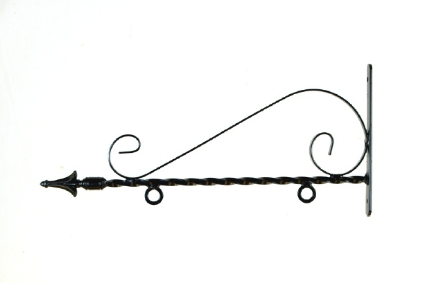 Art SignWorks Wrought Iron Scroll Brackets & Posts for Signs.